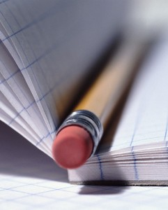 Pencil Eraser and Graph Paper