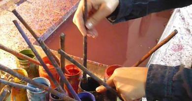 Ebru sanatında karanfil nasıl yapılır