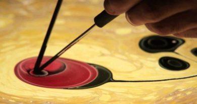 Ebru sanatında Gül nasıl yapılır?