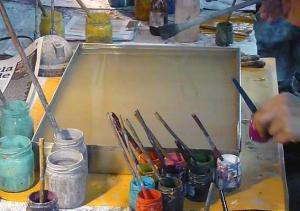 ebru teknesi ve boyalar, sezai temel